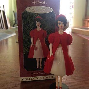 "Hallmark ""Silken Frame"" Barbie ornament"